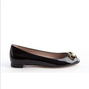 Gucci peep toe ballet flat